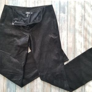 Laundry by Shelli Segal Leather Pants 6 Black